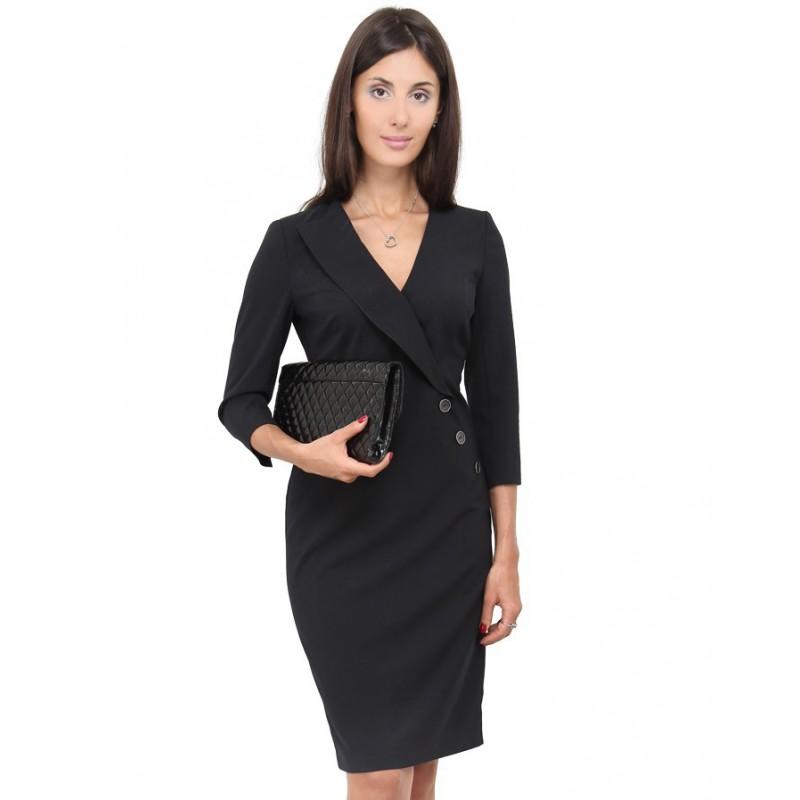 Классическое платье с длинным рукавом 131