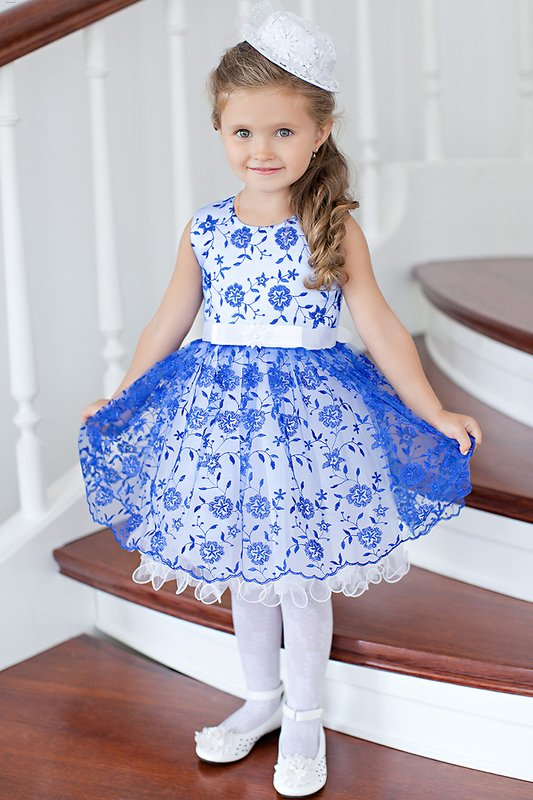 Нарядное платье для девочки 2 года своими руками