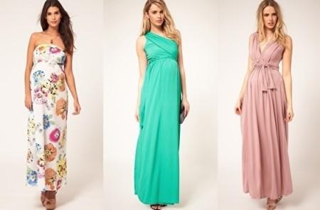 Длинные платья из шифона беременным