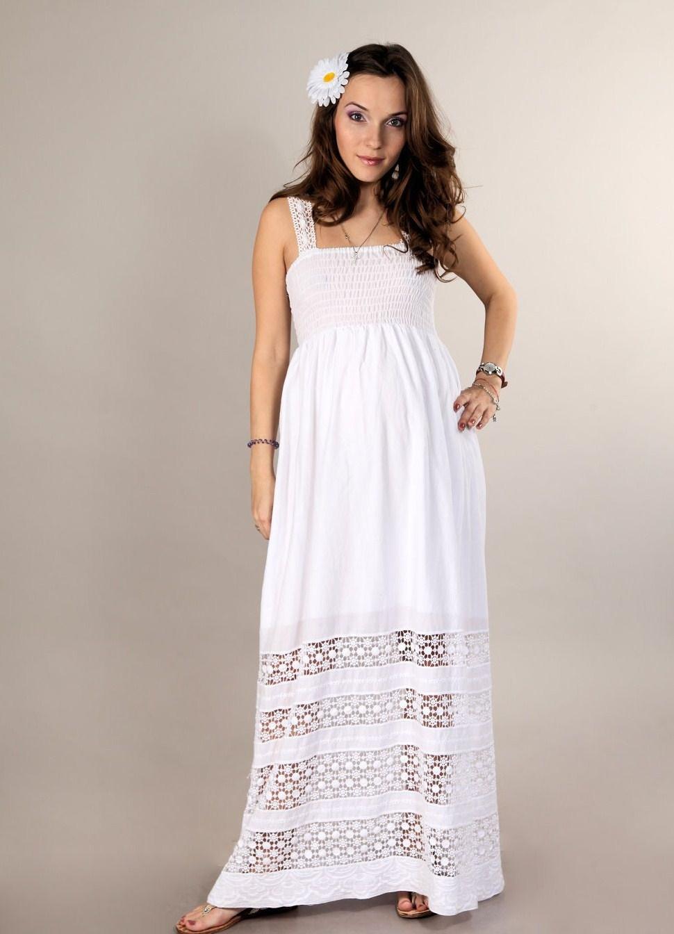 bf565a76af4cae8 Длинные платья для беременных (42 фото): в пол, макси, в полоску, белое