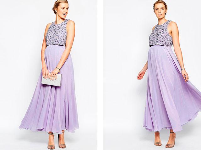 Вечернее летнее платье для беременных