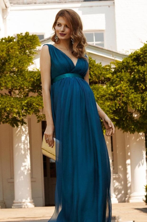 Фото беременных в длинных платьях