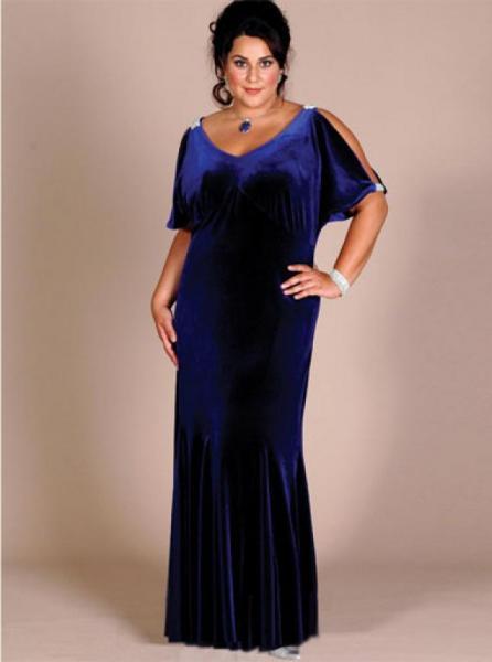 Вечернее платье для полной дамы