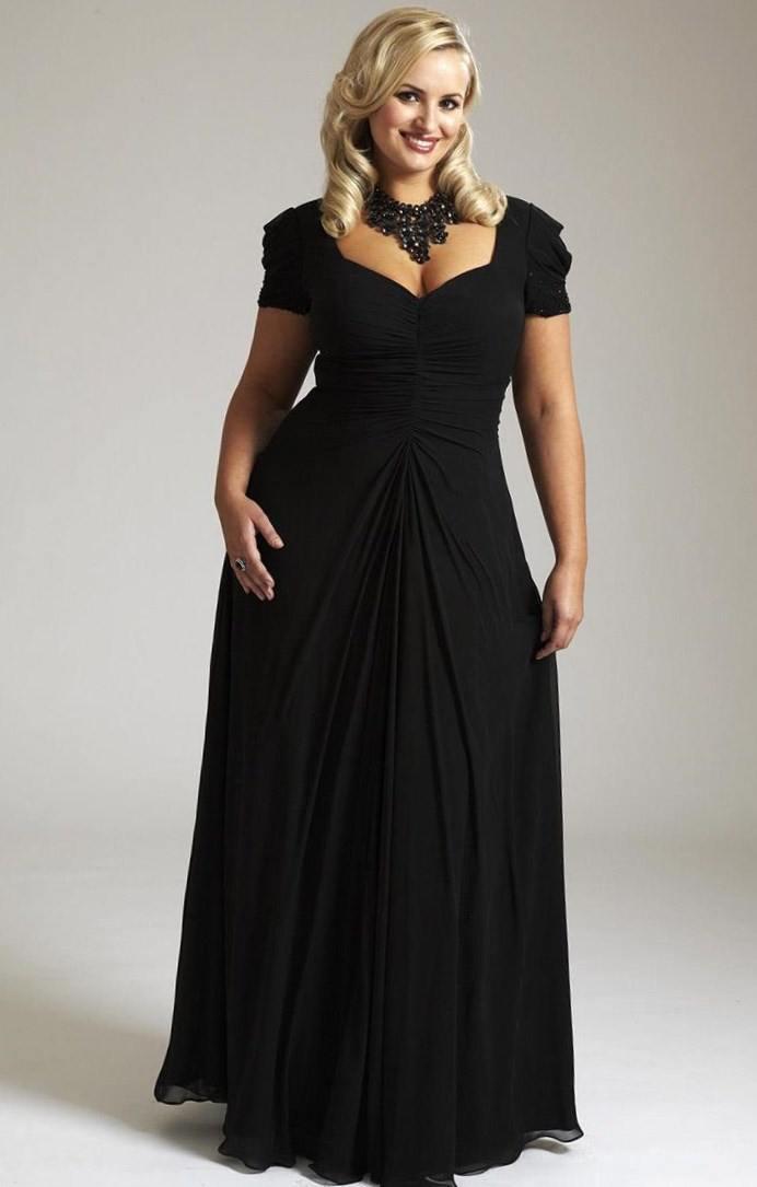 Платья длинные в пол для полных женщин