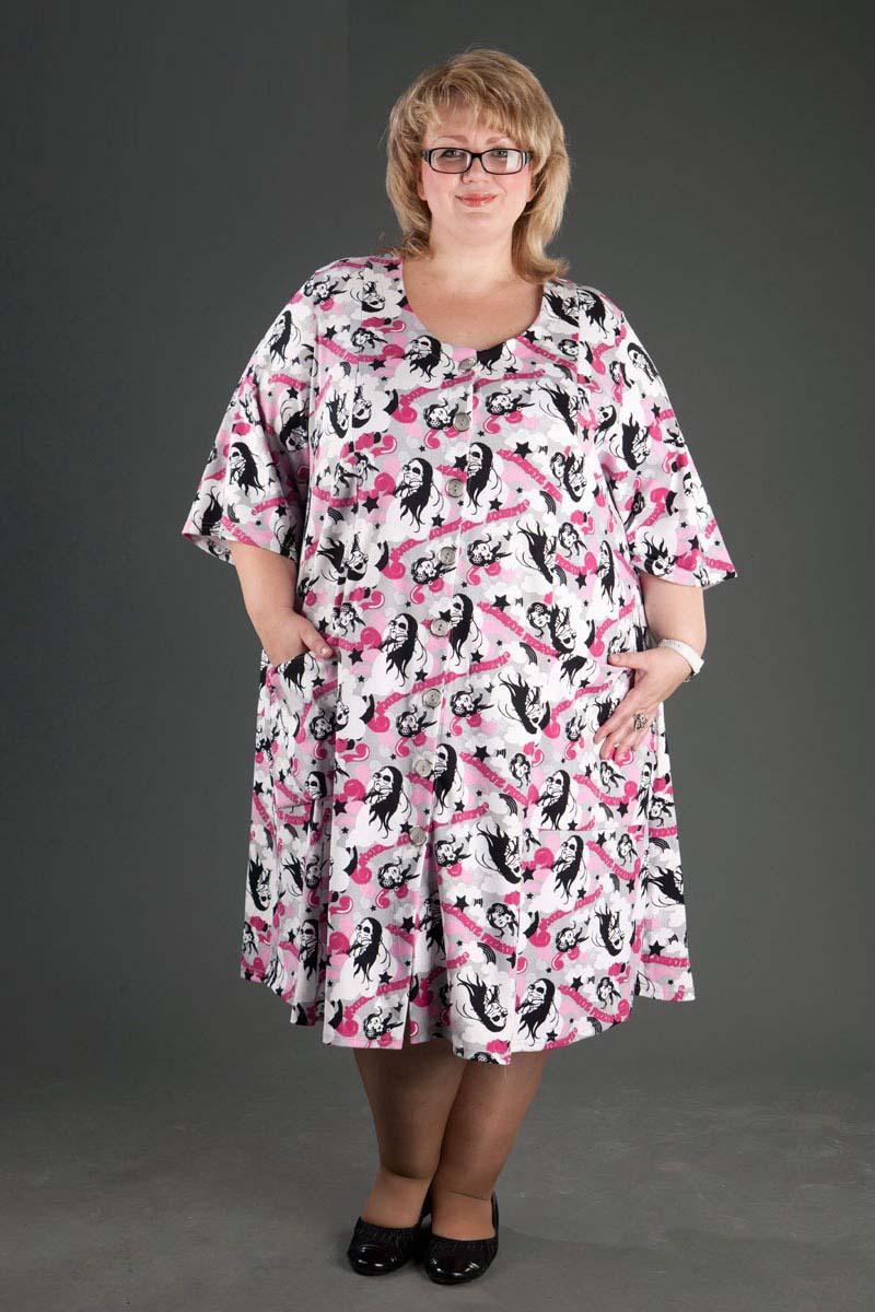 Стильные домашние платья для полных фото