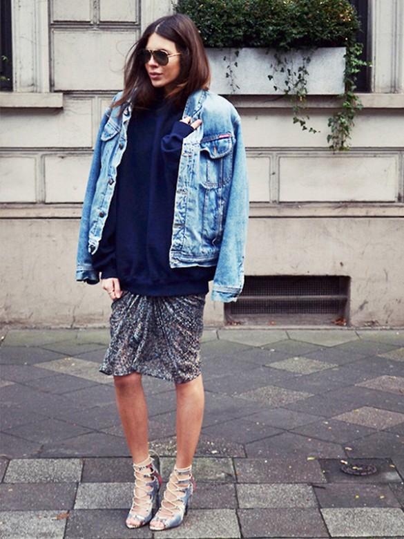 джинсовая куртка Oversize купить 6