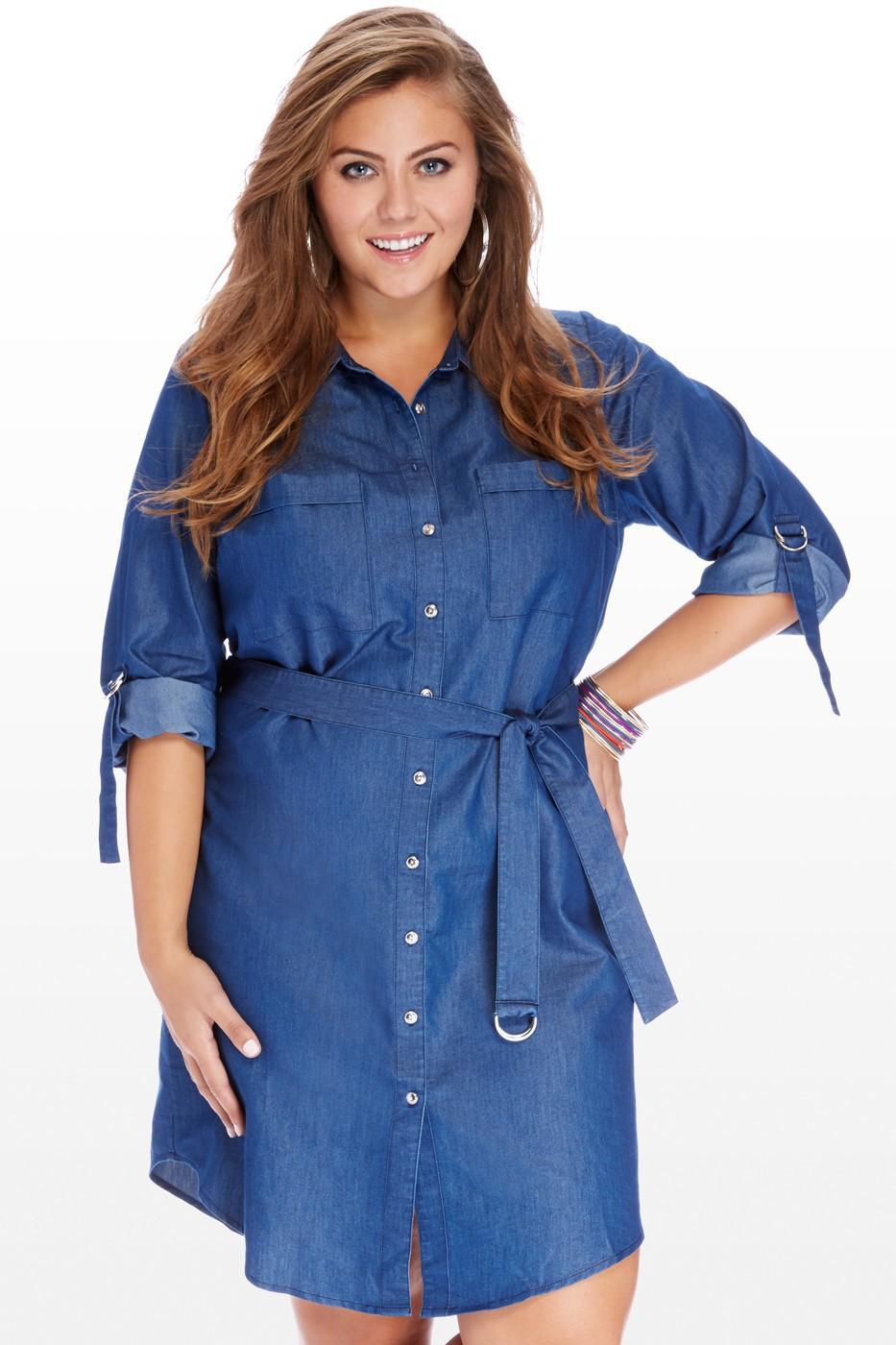 7da653bb08d Джинсовые платья для полных женщин 2019 (41 фото)  больших размеров ...