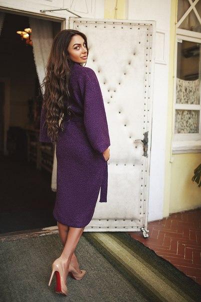 Пальто фиолетового цвета купить