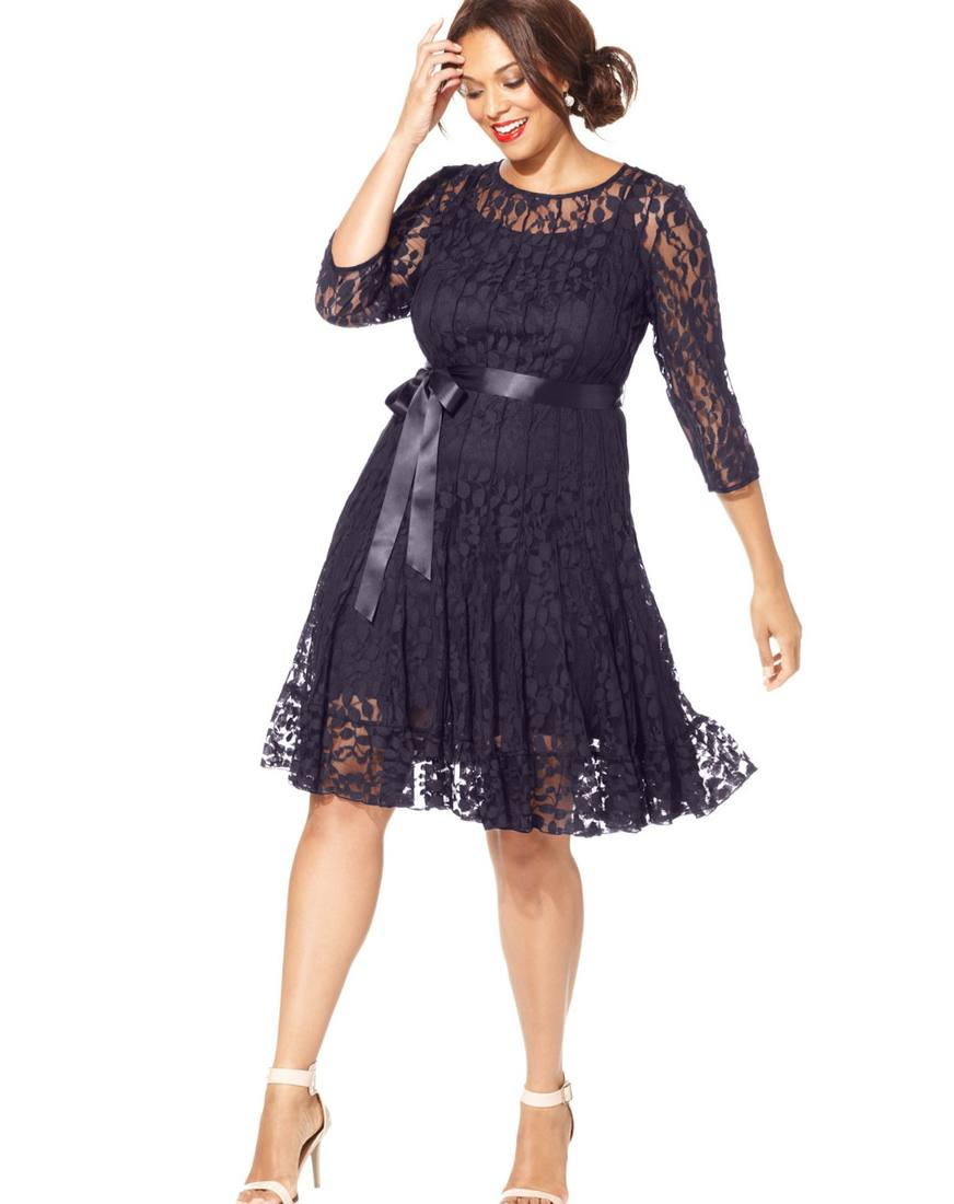 Платья из кружева для полных женщин 2017