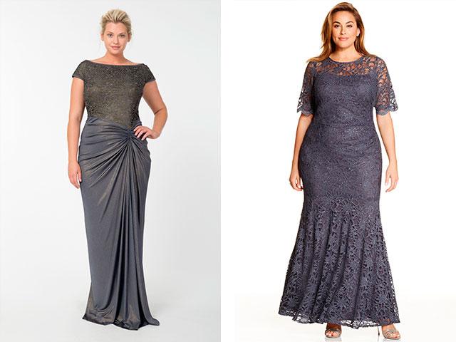 Платье в пол модели для полных