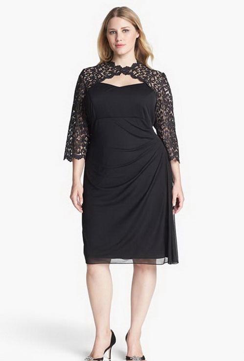 bdee12031b3 Коктейльные платья для полных больших размеров (51 фото) 2019  для ...