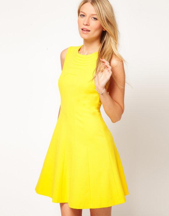 Летние платья желтого цвета