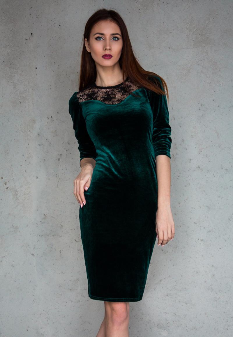 Фото коктельного платья с кружевной ткани