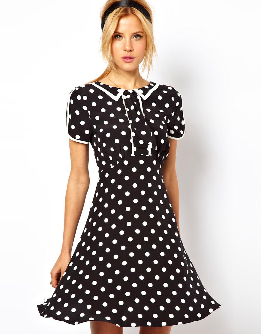 Платье в горох фасоны