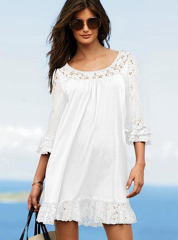 платья летние белые для лета