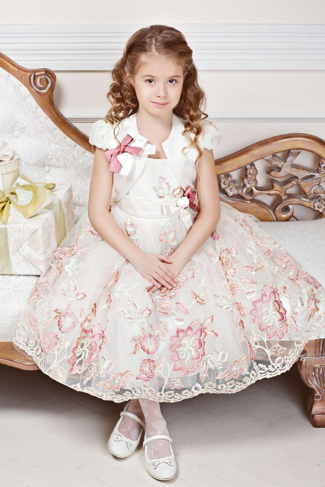 Детское пышное короткое детское платье