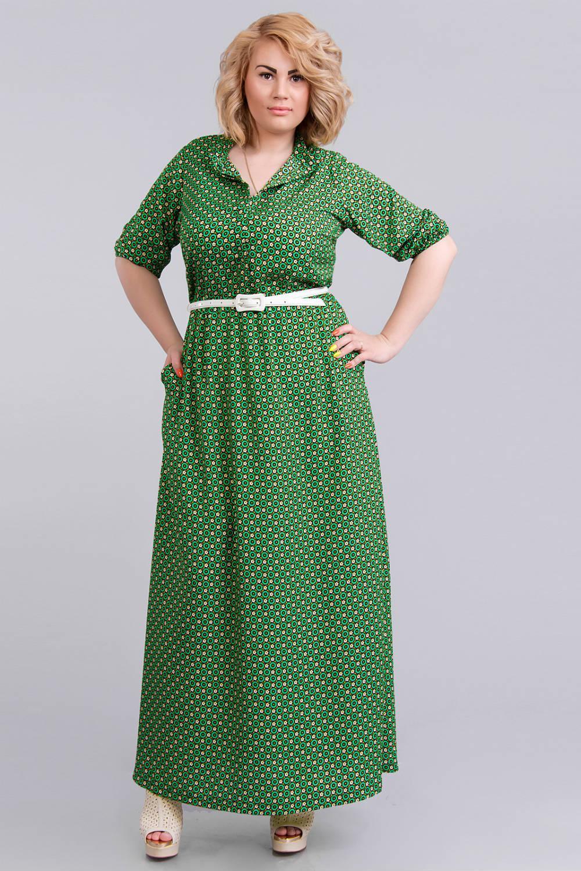 Летнее платье модели для полных женщин