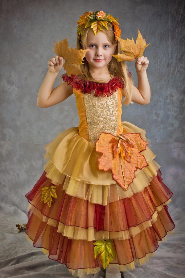 Детский костюм осени своими руками
