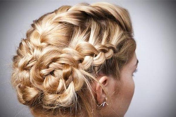 Фото причесок колосков на средние волосы фото