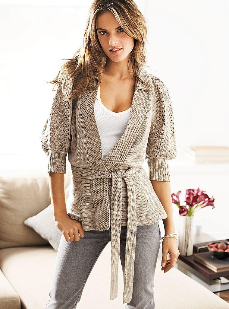 Вязание модные кофты для женщин 638