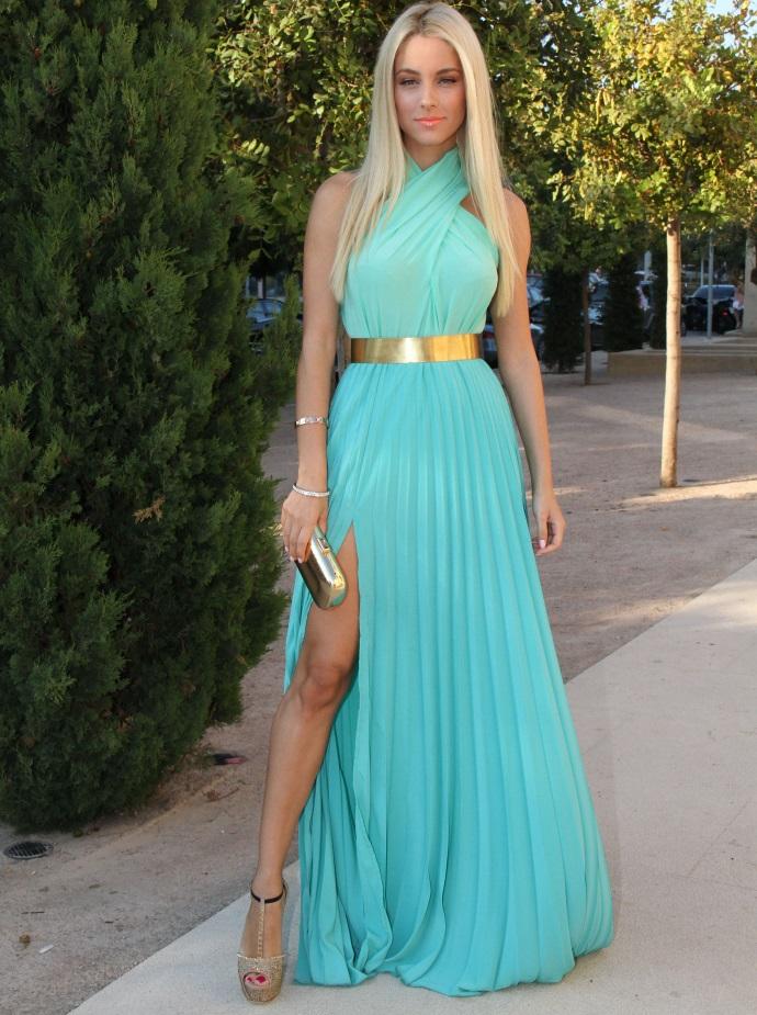 Купить Бирюзовое Вечернее Платье