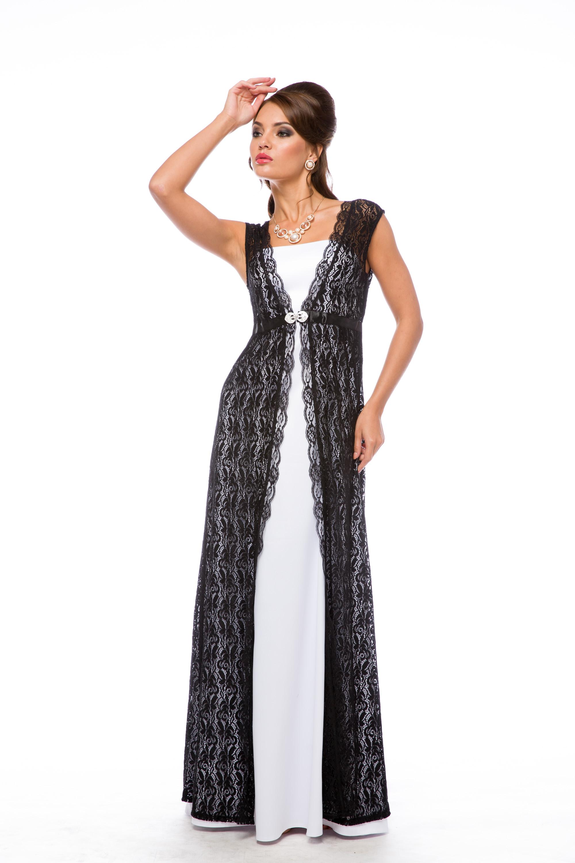 Вечернее платье с накидкой