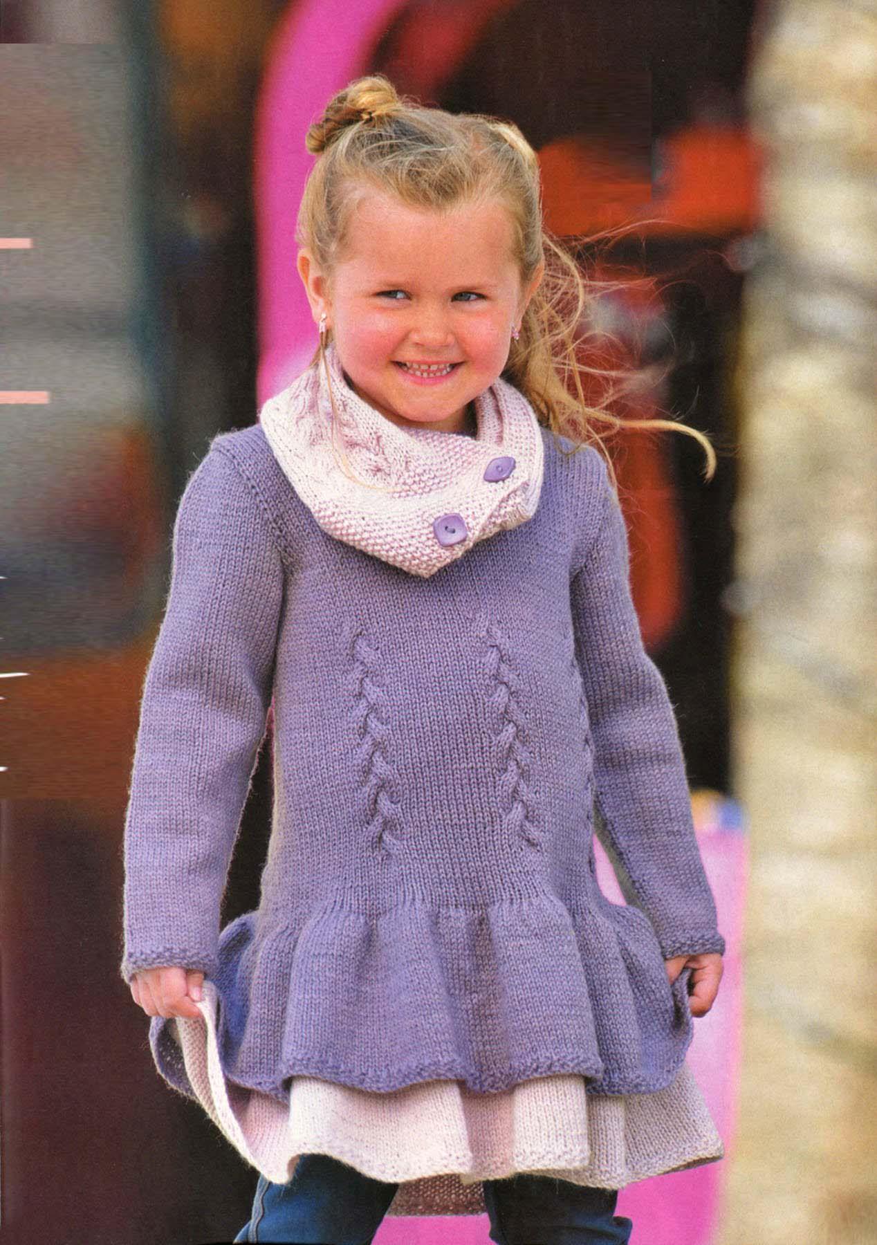 Вязание для девочек возраст 4-6 8-10 лет 513