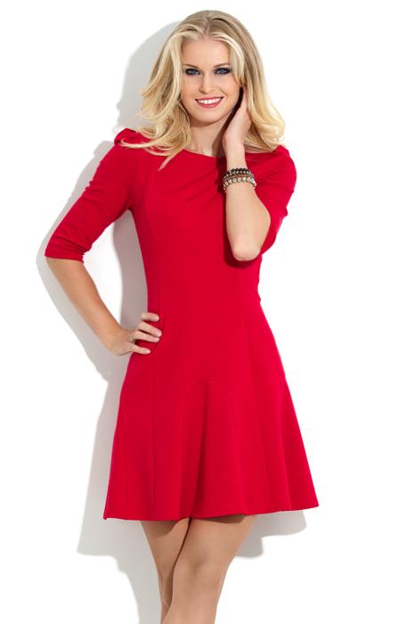 278Модели красных платьев