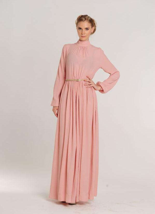 Платье в пол с длинным рукавом своими руками