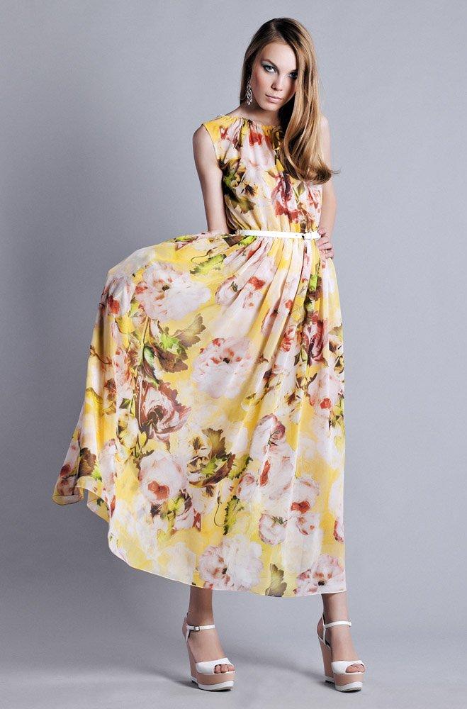 Фасон платья из цветного шифона