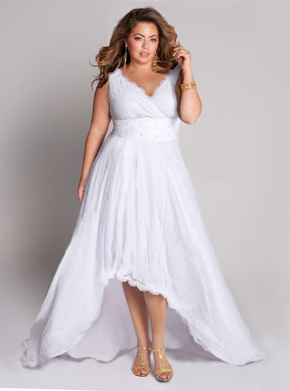 Белое платье для полных женщин