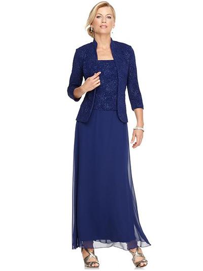 Длина платья для женщины за 50