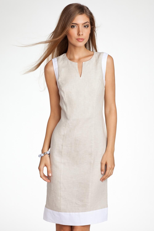 Красивые платья из льна фото