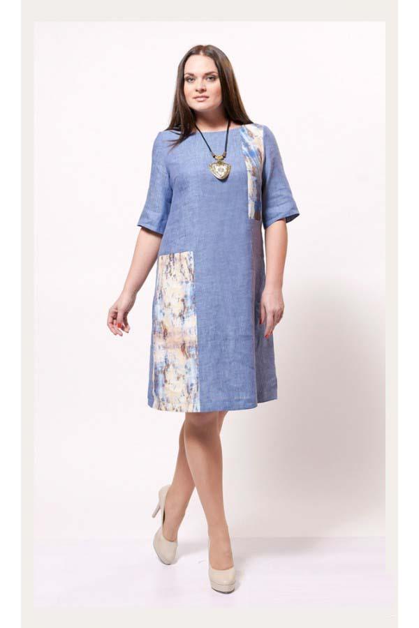 159Строгое платье для полных женщин