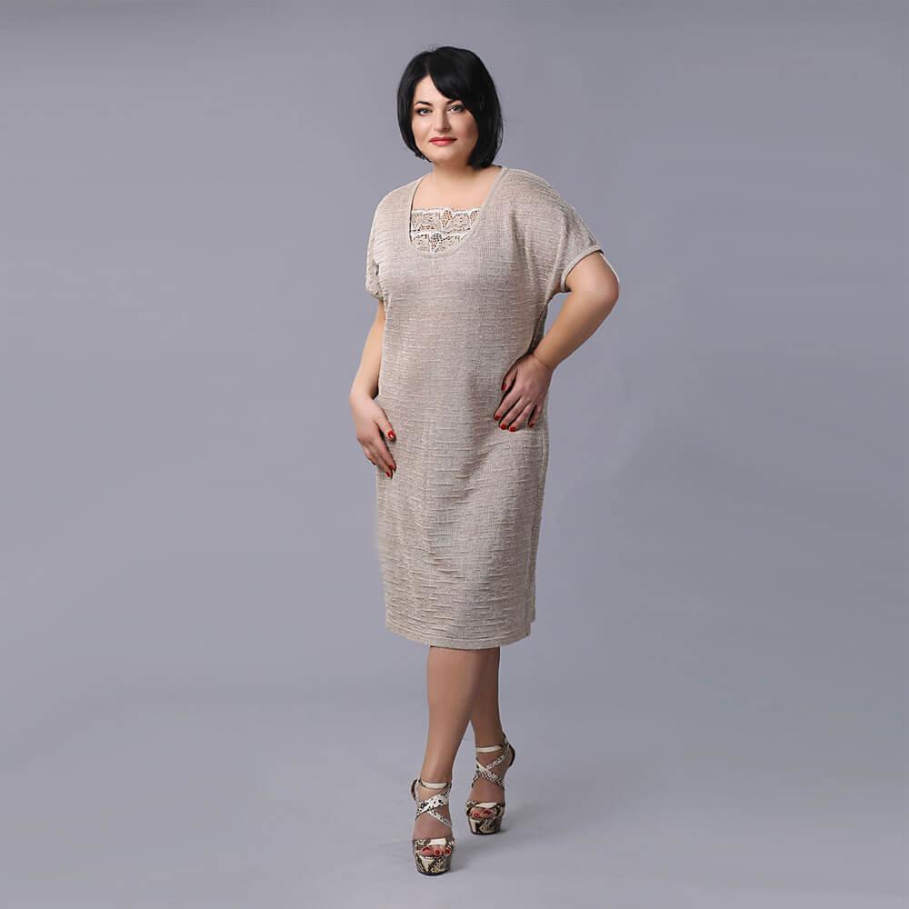 6bc5e092f2497c0 Льняные платья и сарафаны для полных женщин (44 фото) больших ...