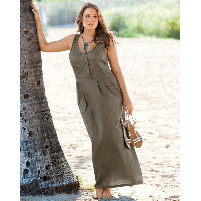 Длинные платья из льна и хлопка