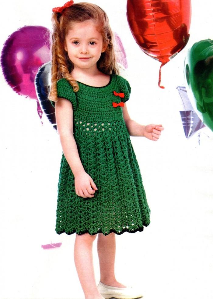 Платье для 2 3 лет вязание