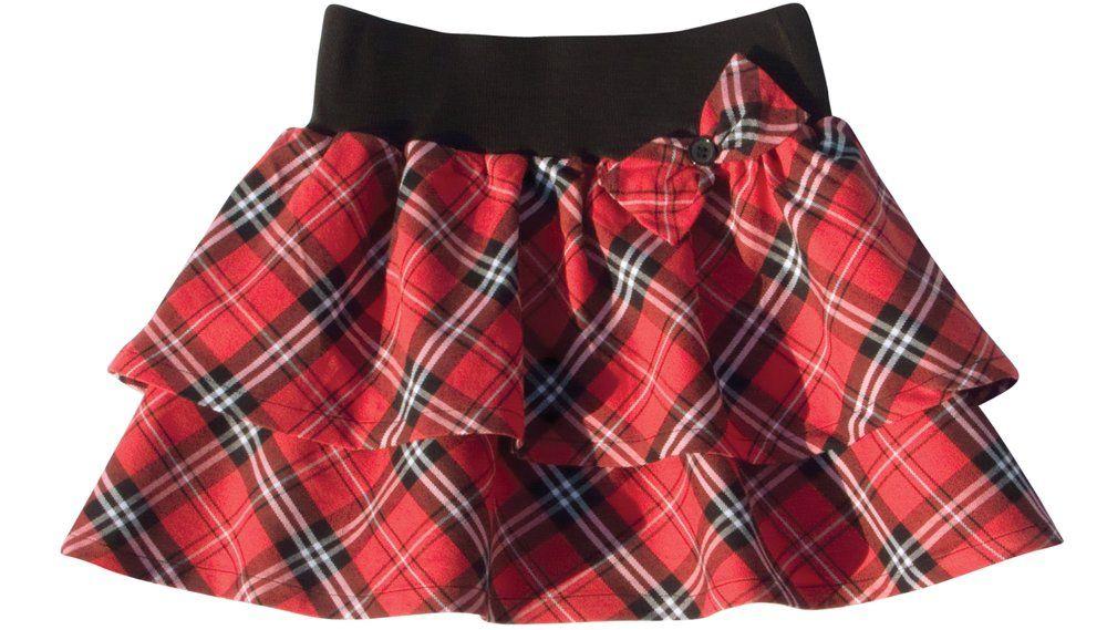 Сшить юбку в клетку для девочки