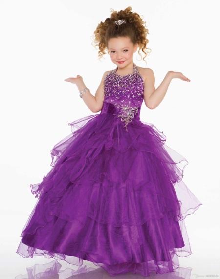 Платья фиолетового цвета для девочек