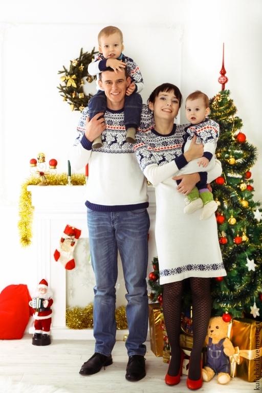 1eee15020ee1 Выбирая модель свитера для всей семьи, хочется выглядеть красиво,  оригинально и модно. Новогодняя тематика предусматривает использование  всегда примерно ...