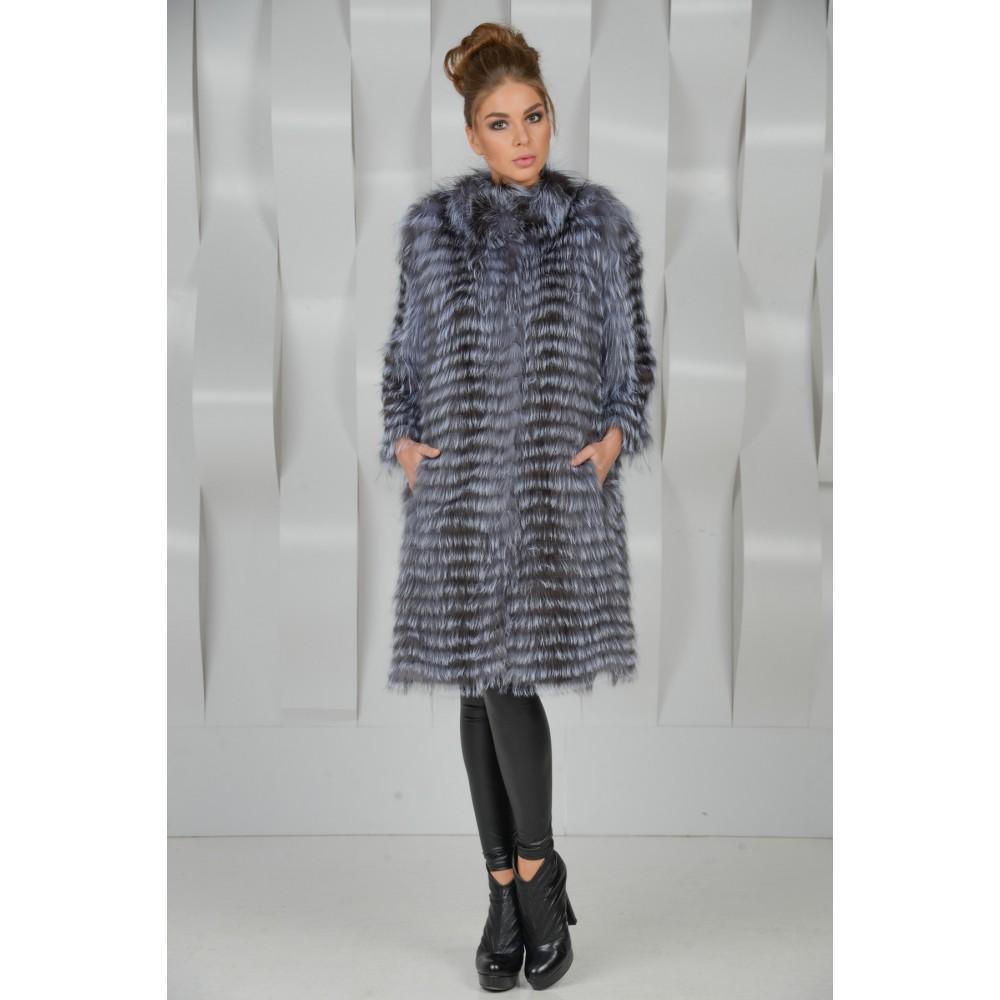 Пальто из чернобурки (44 фото)  на трикотажной основе 0149b1ee26668