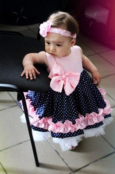 Платье на годик для детей