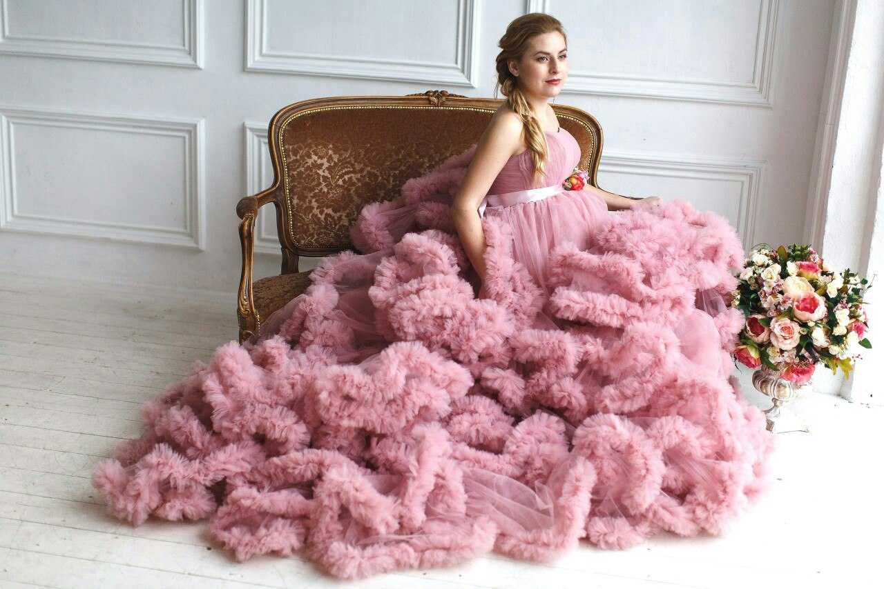 Фотосессии платье облако
