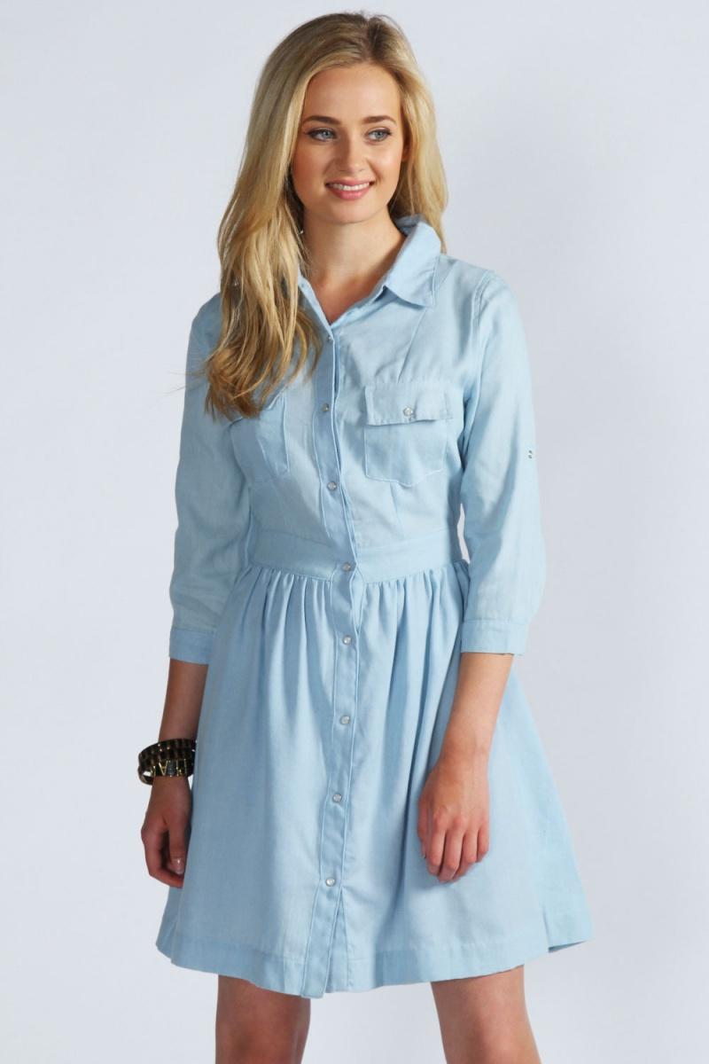 Джинсовое платье-рубашку сшить 8