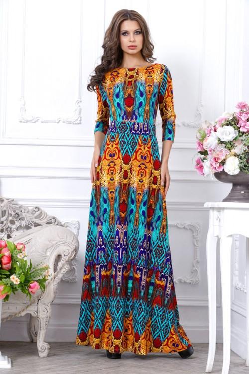 Длинные этнические платья