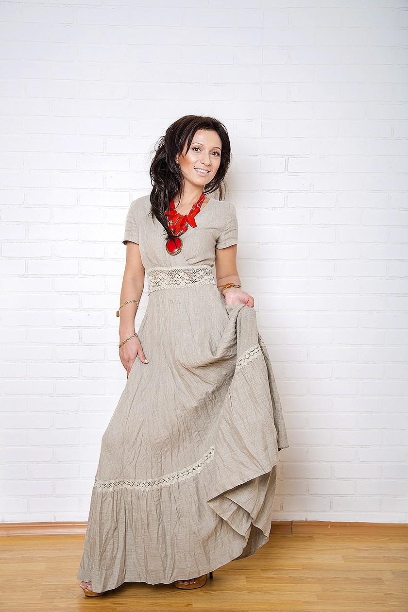 Платья в стиле крестьянка