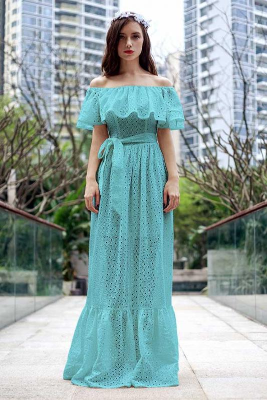 Длинные платья крестьянка фото