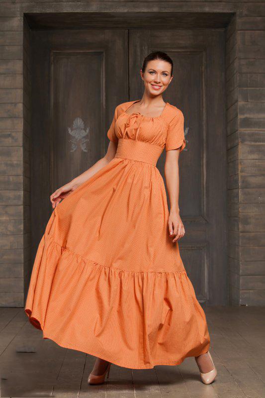 889e2ac4a1c Платье-крестьянка (42 фото)  в пол