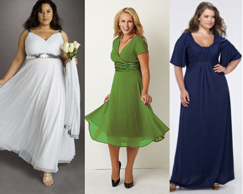 Стильные платья для полных из шифона