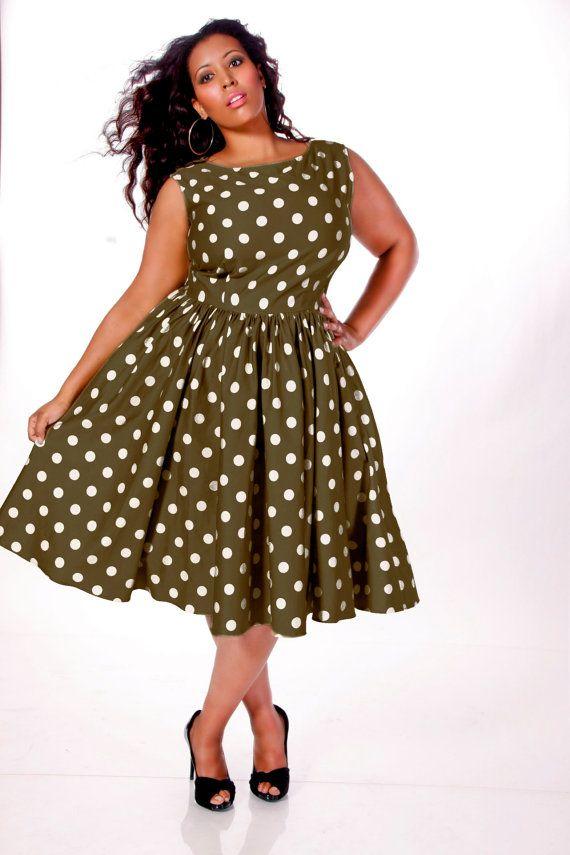 Платье для полных в стиле стиляги